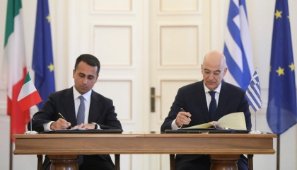 وزير خارجية اليونان من روما: نريد دعمًا إيطاليًا أقوى للعقوبات ضد تركيا