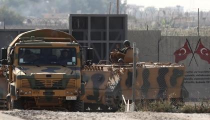 الاحتلال التركي يشيد برج مراقبة في قاعدته العسكرية الثانية بالشمال السوري