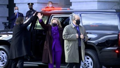 وصول الرئيس الأمريكي جو بايدن إلى مبنى الكابيتول