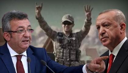 نائب تركي: جنود أردوغان يرفعون علامتي رابعة والذئاب الرمادية الإرهابيتين