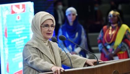 أمينة أردوغان تهنئ أمهات تركيا بعيدهن