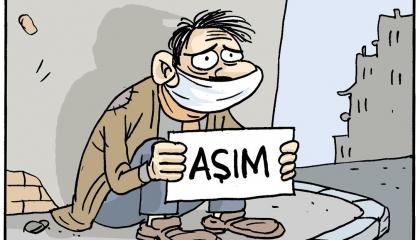 كاريكاتير.. صرخة الأتراك في وجه حكومة أردوغان: أين لقاحي؟!