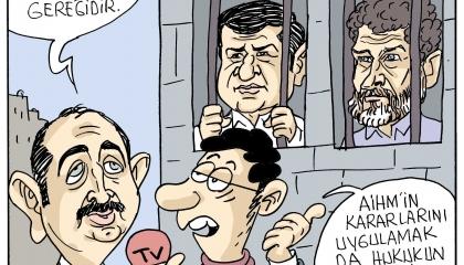 كاريكاتير: حكومة أردوغان تنصت فقط لنفسها.. والمعارضة مصيرها السجن!