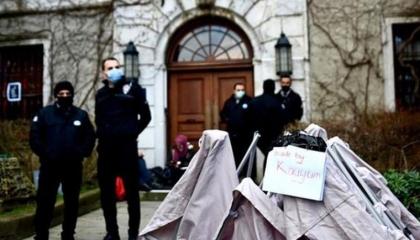بالفيديو.. الشرطة التركية تزيل خيمة طلاب جامعة بوغازيتشي!