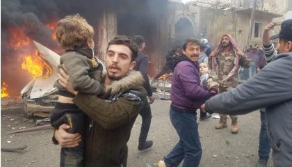 بالفيديو.. انفجار عنيف يضرب مدينة أعزاز السورية