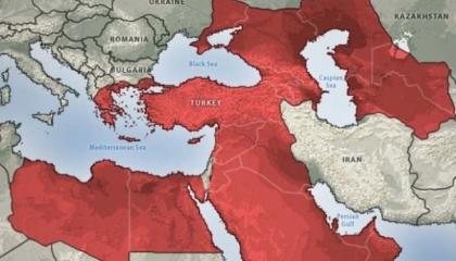 خريطة تركيا 2050 تثير المخاوف في موسكو.. تضم مناطق روسية وعربية وأفريقية