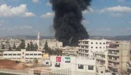 انفجار هائل في مناطق تحت السيطرة التركية بريف عفرين.. وأنباء عن سقوط جرحى