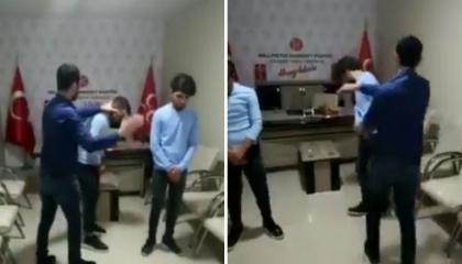 سياسي تركي يعتدي على طفلين بسبب «تيك توك».. شاهد الفيديو