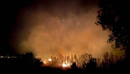حريق هائل في  منطقة الغابات بأنطاليا التركية يمتد للقرى المجاورة