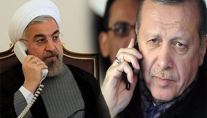 العقوبات الأمريكية تجمع روحاني وأردوغان على الهاتف