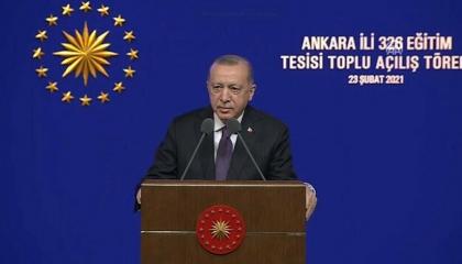أردوغان: تعيين 20 ألف مدرس جديد في الأشهر المقبلة