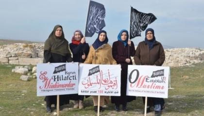 شرطة أردوغان المغرم بالدولة العثمانية تعتقل 4 سيدات روجن للخلافة