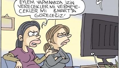 كاريكاتير تركي: خطة أردوغان لحقوق الإنسان تناقض واقع تركيا المُر!