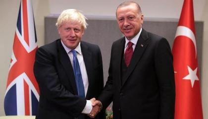 القضية القبرصية تجمع أردوغان برئيس الوزراء البريطاني على الهاتف