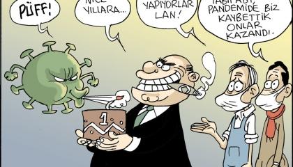 كاريكاتير| المواطنون الأترك يدفعون فاتورة كورونا.. وأردوغان في برج عاجي