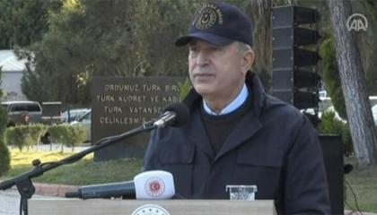 وزير الدفاع التركي مجددًا: احترام مصر لمجالات بلادنا البحرية «خطوة للسلام»