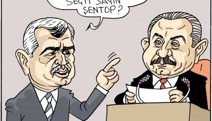 كاريكاتير: مصطفى شنتوب.. «سوبر مان» البرلمان التركي!