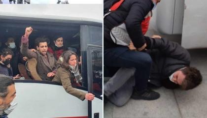 بالفيديو.. الشرطة التركية تعتقل 35 طالبًا لدعمهم طلاب جامعة بوغازيتشي
