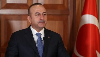 وزير الخارجية التركي يلتقي رئيس مجلس النواب الطاجيكي خلال زيارته للبلاد