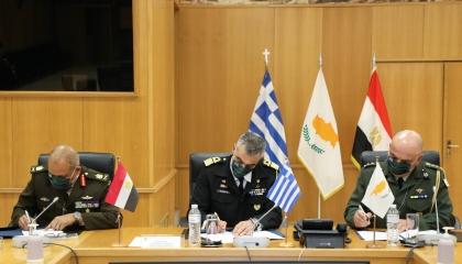 اتفاق عسكري جديد بين مصر واليونان وقبرص
