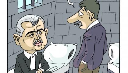 كاريكاتير: لا صوت يعلو فوق صوت أردوغان.. من يعارض السجن مصيره!