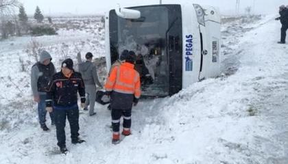 مصرع سائح روسي وإصابة 26 آخرين في تركيا بسبب سوء الأحوال الجوية