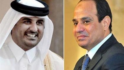 اتصال هاتفي من أمير قطر  بالرئيس المصري للتهنئة بشهر رمضان المبارك