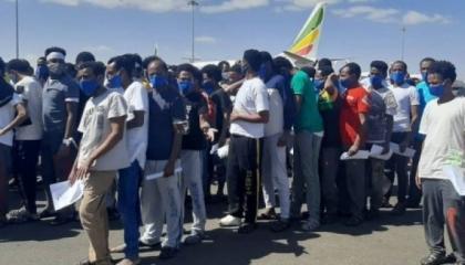 عودة 90 مهاجرًا إثيوبيًا إلى بلادهم من اليمن