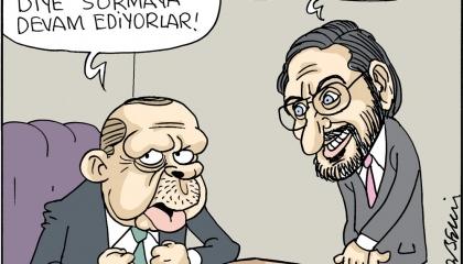 كاريكاتير.. أردوغان يبرر تبديد 128 مليار دولار: صرفناهم في الخير
