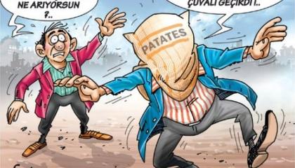 كاريكاتير: البطاطس سلاح أردوغان لإلهاء الشعب التركي