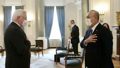 وزير الخارجية التركي يبحث مع الرئيس الألماني العلاقات الثنائية