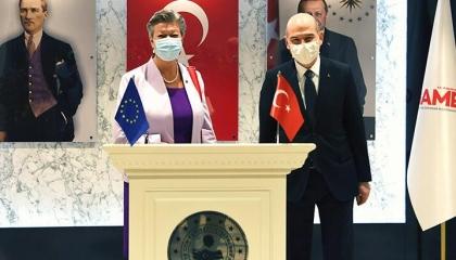 وزير الداخلية التركي يلتقي وفدًا من الاتحاد الأوروبي