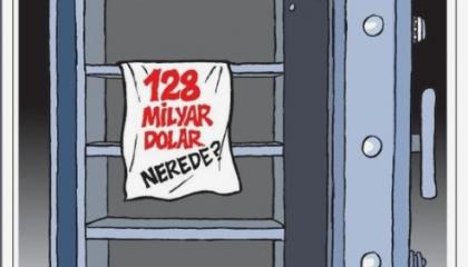 كاريكاتير: الـ128 مليار دولار المفقودة قضية تؤرق الشعب التركي!