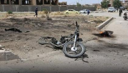جرحى في انفجار دراجة نارية بحلب السورية