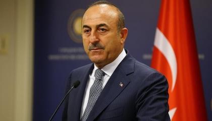 وزير الخارجية التركي يبحث الأزمة في فلسطين مع نظرائه في 4 دول