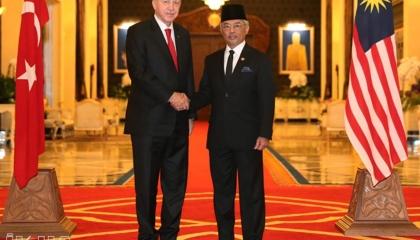 أردوغان يبحث مع ملك ماليزيا هجمات إسرائيل على المسجد الأقصى والفلسطينيين