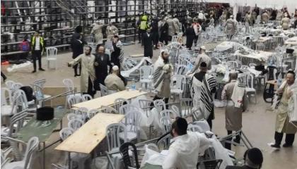 فيديو: انهيار كنيس يهودي بالضفة.. إصابة 60 شخصًا وما زال عشرات تحت الأنقاض