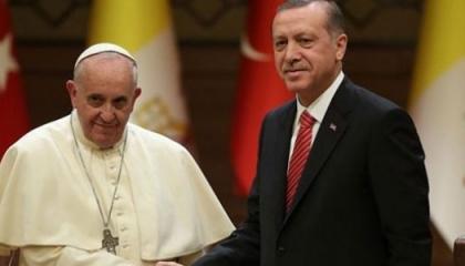 أردوغان لبابا الفاتيكان: هجمات إسرائيل الوحشية تستهدف البشرية بأكملها