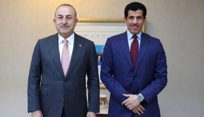 وزير الخارجية التركي يلتقي السفير القطري في أنقرة