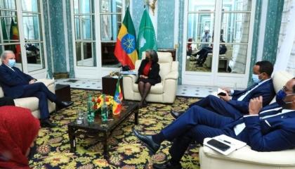 رئيسة إثيوبيا تلتقي كبار مسؤولي البنك الدولي في باريس
