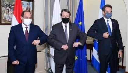 اجتماع وزراء دفاع مصر واليونان وقبرص في نيقوسيا