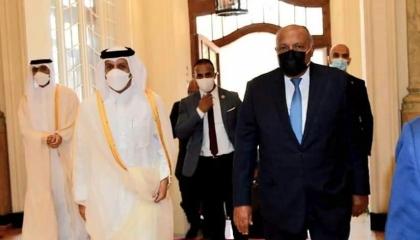 وزيرا خارجية مصر وقطر يناقشان التحديات العربية والإقليمية من القاهرة