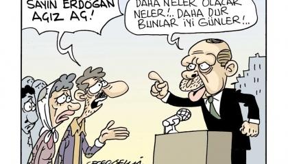كاركاتير: في عهد أردوغان.. الجوع أسعد أيام المواطنين!
