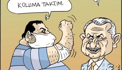 كاريكاتير: ابن رئيس وزراء تركيا السابق يسافر فنزويلا بكمامات وليس كوكايين!