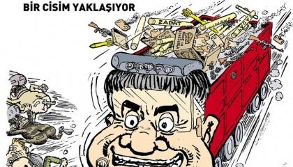 كاريكاتير: شاحنات أردوغان تحمل السلاح إلى سوريا