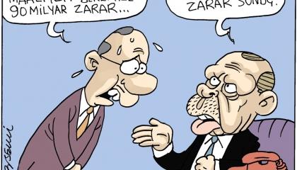 كاريكاتير تركي: كلام أردوغان يزيد الطين بلة!
