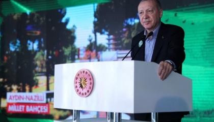 أردوغان يؤكد أهمية المساحات الخضراء في تركيا