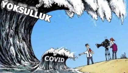 كاريكاتير: الأتراك عالقون بين الفقر وكورونا!