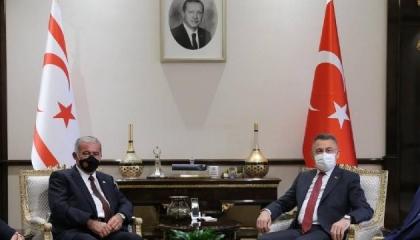 نائب أردوغان يلتقي رئيس برلمان قبرص التركية في أنقرة