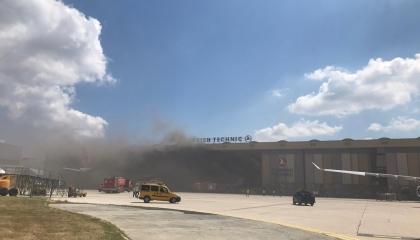 انفجار هنجر صيانة في مطار أتاتورك بإسطنبول